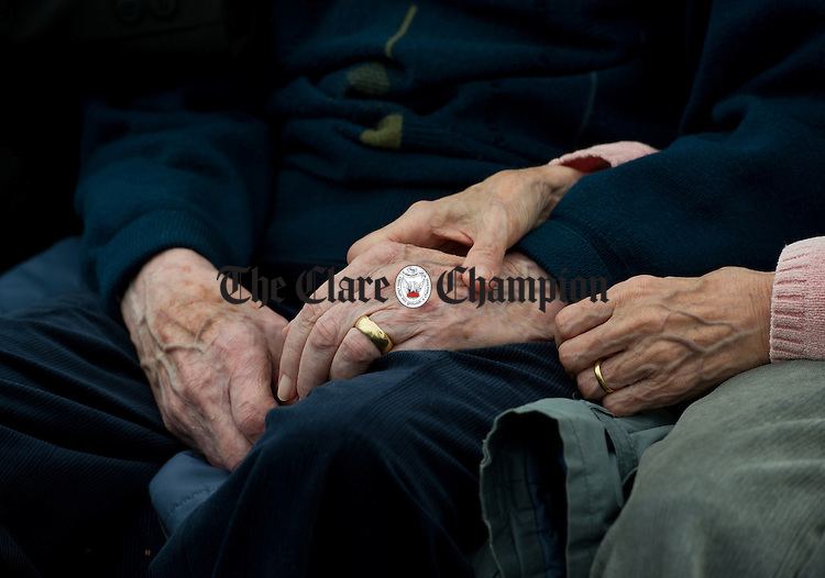 Caring hands mind a client at the official opening of the Watermans Lodge day Care and Respite centre at Ballina. Photograph by John Kelly.