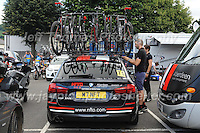The NFTO team emergency bicycles are checked over before the race during the Abergavenny Festival of Cycling &quot;Grand Prix of Wales&quot; race on Sunday 17th 2016<br /> <br /> <br /> Jeff Thomas Photography -  www.jaypics.photoshelter.com - <br /> e-mail swansea1001@hotmail.co.uk -<br /> Mob: 07837 386244 -