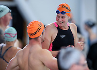 Rebecca Perrott, Legends relay. AON Swimming New Zealand National Open Swimming Championships, National Aquatic Centre, Auckland, New Zealand, Friday 6 July 2018. Photo: Simon Watts/www.bwmedia.co.nz