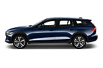 Car Driver side profile view of a 2019 Volvo V60-Crosscountry - 5 Door Wagon Side View