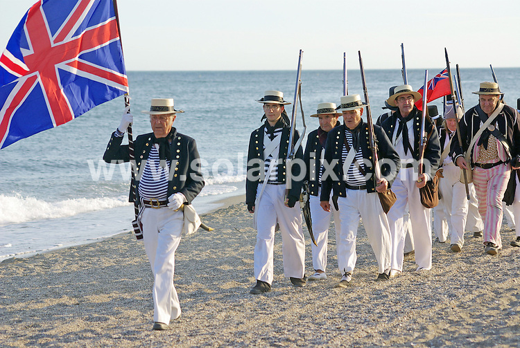 **ALL ROUND PICTURES FROM SOLARPIX.COM**                                             **WORLDWIDE SYNDICATION RIGHTS EXCEPT SPAIN & SOUTH AMERICA - NO SYNDICATION IN SPAIN OR SOUTH AMERICA**                                                                                  Caption:    The bi-centenial re-enactment of the Battle of Fuengirola in Fuengirola, Malaga where British and Spanish forces were defeated by Polish battalions on the beaches in 1810.                                                                            This pic:   Bi-centenery of the Battle of Fuengirola.                                                                                           JOB REF:    12325    MPA       DATE:   17.10.10                                                         **MUST CREDIT SOLARPIX.COM OR DOUBLE FEE WILL BE CHARGED**                                                                      **MUST AGREE FEE BEFORE ONLINE USAGE**                               **CALL US ON: +34 952 811 768 or LOW RATE FROM UK 0844 617 7637**