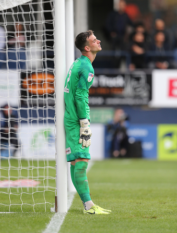 Luton Town's Simon Sluga<br /> <br /> Photographer Rob Newell/CameraSport<br /> <br /> The EFL Sky Bet Championship - Luton Town v Huddersfield Town - Saturday 31 August 2019 - Kenilworth Stadium - Luton<br /> <br /> World Copyright © 2019 CameraSport. All rights reserved. 43 Linden Ave. Countesthorpe. Leicester. England. LE8 5PG - Tel: +44 (0) 116 277 4147 - admin@camerasport.com - www.camerasport.com