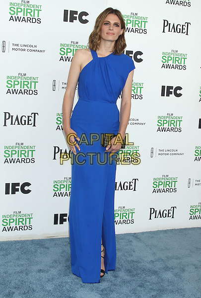 1 March 2014 - Santa Monica, California - Stana Katic. 2014 Film Independent Spirit Awards held at Santa Monica Beach. <br /> CAP/ADM/RE<br /> &copy;Russ Elliot/AdMedia/Capital Pictures