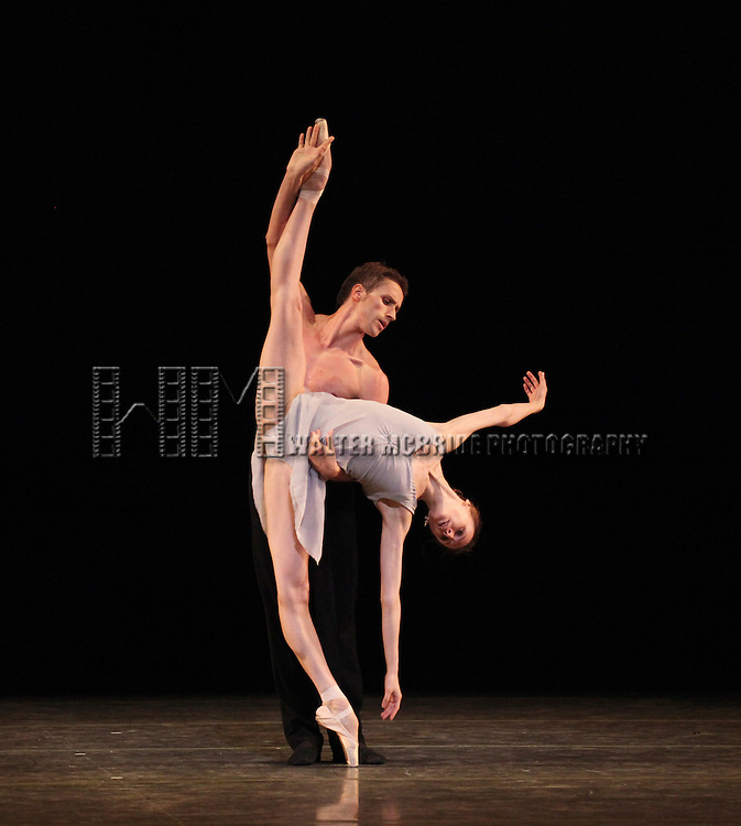 Svetlana Zakharova and Andrei Merkuriev from the Bolshi Ballet performing 'Distant Cries' during the rehearsal for 'Stars of the 21st Century' at the David H. Koch Theater at Lincoln Center  on October 18, 2012 in New York City.