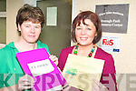 CLASSES: Kathleen Morris and Margaret Wrenn launching details this week of the forthcoming night classes to be held by the Killorglin Family Resource Centre.