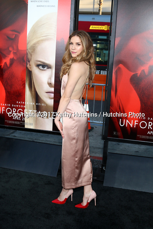 """LOS ANGELES - APR 18:  Allison Holker at the """"Unforgettable"""" Premiere at TCL Chinese Theater IMAX on April 18, 2017 in Los Angeles, CA"""