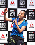 "June 16, 2016, Tokyo, Japan - Japanese model Anne Nakamura speaks at a promotion event for ""Reebok Fitness Battle Race"" in Tokyo on Thursday, June 16, 2016. Reebok Fitness Battle Race is a four-person team event of obstacle race, which will be held at the German village in Chiba prefecture on October 1.   (Photo by Yoshio Tsunoda/AFLO) LWX -ytd"