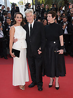 Emily Stofle, David Lynch &amp; Sabrina S. Sutherland at the Closing Gala for the 70th Festival de Cannes, Cannes, France. 28 May 2017<br /> Picture: Paul Smith/Featureflash/SilverHub 0208 004 5359 sales@silverhubmedia.com
