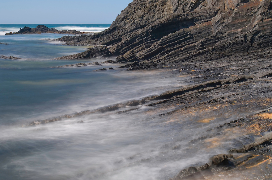 Amoreira beach during low tide. Southwest Alentejo and Vicentine Coast Natural Park, Portugal.