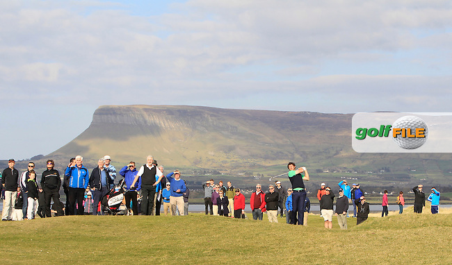 Robert J Cannon (Balbriggan) during Matchplay Quarter-Finals on April 6th 2015 for the 2015 West of Ireland Open Championship, Co. Sligo, Golf Club, Rosses Point, Sligo, Ireland.<br /> Picture: Thos Caffrey / Golffile