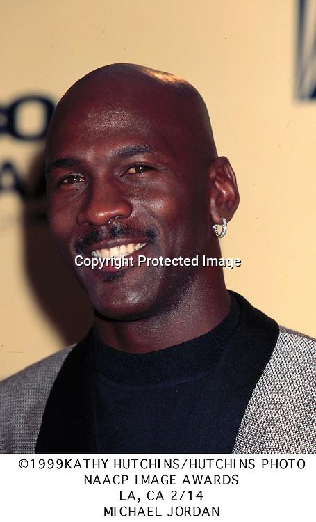 ©1999 KATHY HUTCHINS/HUTCHINS PHOTO.NAACP IMAGE AWARDS.LA, CA 2/14/99.MICHAEL JORDAN