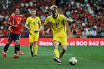 Sweden national team player Filip Helander during UEFA EURO 2020 Qualifier match between Spain and Sweden at Santiago Bernabeu Stadium in Madrid, Spain. June 10, 2019. (ALTERPHOTOS/A. Perez Meca)
