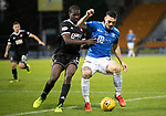 St Johnstone v Hamilton Accies&hellip;10.11.18&hellip;   McDiarmid Park    SPFL<br />Tony Watt battles with Delphin Tshiembe<br />Picture by Graeme Hart. <br />Copyright Perthshire Picture Agency<br />Tel: 01738 623350  Mobile: 07990 594431