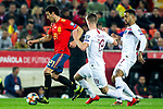 Spain's Daniel Parejo, Norway's Markus Henriksen and Norway's Joshua King  during the qualifying match for Euro 2020 on 23th March, 2019 in Valencia, Spain. (ALTERPHOTOS/Alconada)