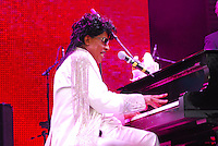 Legendary musician Little Richard performs in New Orleans Saturday May 30,2009 as part of the Domino Effect Benefit concert which also featured B.B. King and Chuck Berry. Domino Effect Benefit Concert legendary performers gather in New Orleans at the Arena to raise funds and awarness for hurricane Katrina rebuilding for Fats Domino the Tipatina Foundation and the Drew Brees' foundation. Photo©Suzi Altman ALL IMAGES ©SUZI ALTMAN. IMAGES ARE NOT PUBLIC DOMAIN. CALL OR EMAIL FOR LICENSE, USE, OR TO PURCHASE PRINTS 601-668-9611 OR EMAIL SUZISNAPS@AOL.COMPhoto©Suzi Altman