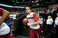 SPOKANE, WA - MARCH 26, 2011: Grace Mashore, Stanford Women's Basketball vs University of North Carolina, NCAA West Regionals on March 26, 2011.