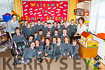 Mary Daughton SNA and Theresa Brown Teacher with pupils on their first day at Dromclough NS.