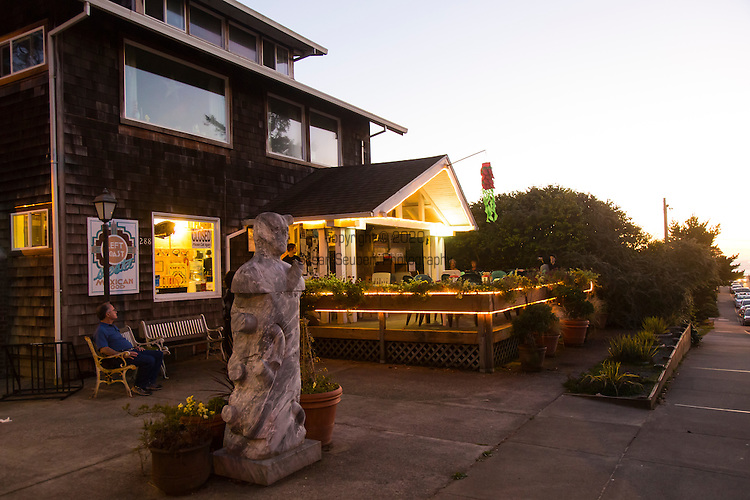 """Manzanita, Oregon, located on Neahkahnie Beach, is a small beach town located in Tillamook County on the Northern Oregon coast.  Manzanita means """"little apple"""" in Spanish. Pictured here is the Left Coast restaurant that serves Mexican cuisine."""