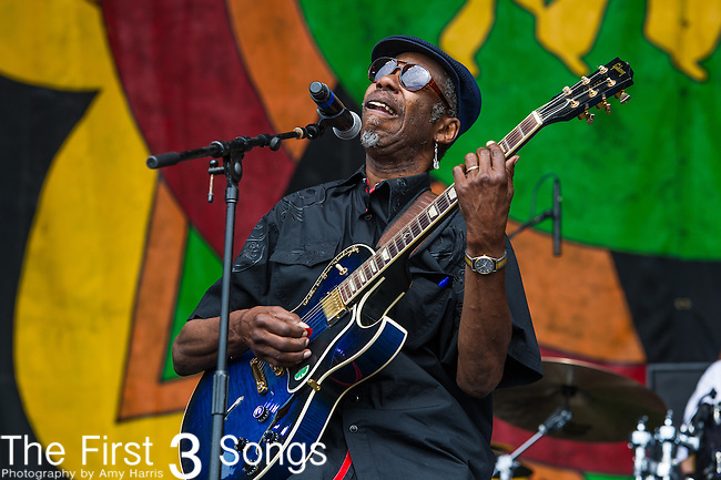 "Walter ""Wolfman"" Washington & the Roadmasters performs during the New Orleans Jazz & Heritage Festival in New Orleans, LA."