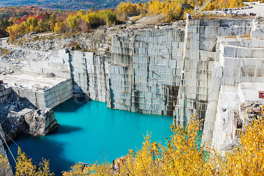 Rock of Ages granite quarry, Barre, Vermont, USA.