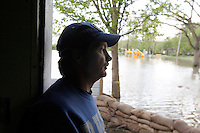 "Bill Sandquist recounts The Great Flood of 1993, in which floodwaters reached clear into his home in the Red Star District of Cape Girardeau, MO, on Thursday, April 28, 2011. ""Hopefully, [the floodwaters] won't get that high again,"" said Sandquist."