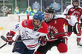 Joseph Pendenza (UML - 14), Colton Saucerman (NU - 23) - The Northeastern University Huskies defeated the University of Massachusetts Lowell River Hawks 4-1 (EN) on Saturday, January 11, 2014, at Fenway Park in Boston, Massachusetts.