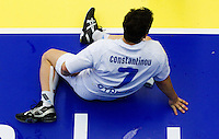 11 JUN 2010 - LONDON, GBR - Cypriot Constantinos Constantinou recovers after the teams match against Bulgaria at their 2012 European Handball Championships Qualification Tournament .(PHOTO (C) NIGEL FARROW)