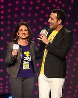 MIAMI, FL - DECEMBER 14: Gloria Estefan and Jesus Navarro of Reik at Teleton USA at Univision Studios in Miami, Florida. December 14, 2012. Credit: Majo Grossi/MediaPunch Inc. /NortePhoto