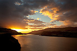 Columbia Gorge National Scenic Area, Klickitat County, WA<br /> Sunrise over the Columbia River near the mouth of the Klickitat river