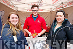 Ciara Ambrose, Matthew O'Connell and Aisling O'Brien, pictured at the mini doughnuts stand at the 'Food 4 Thought'  event, held at IT, Tralee North Campus, on Wednesday morning.