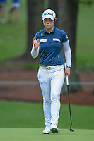 Eun-Hee Ji (KOR) after sinking her putt on 10 during round 1 of the U.S. Women's Open Championship, Shoal Creek Country Club, at Birmingham, Alabama, USA. 5/31/2018.<br /> Picture: Golffile | Ken Murray<br /> <br /> All photo usage must carry mandatory copyright credit (&copy; Golffile | Ken Murray)