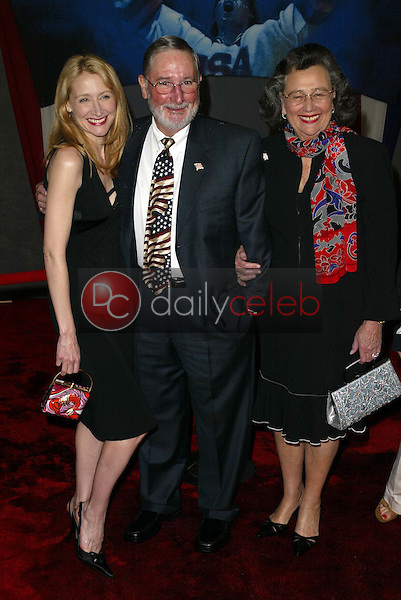 Patricia Clarkson and parents