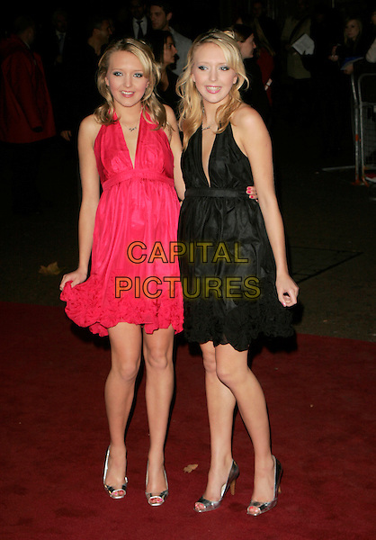 "SAM & AMANDA MARCHANT.UK Premiere of ""Elizabeth - The Golden Age"" at the Odeon Leicester Square, London, England, October 23rd 2007..full length black pink dress twins big brother silver shoes.CAP/AH.©Adam Houghton/Capital Pictures."