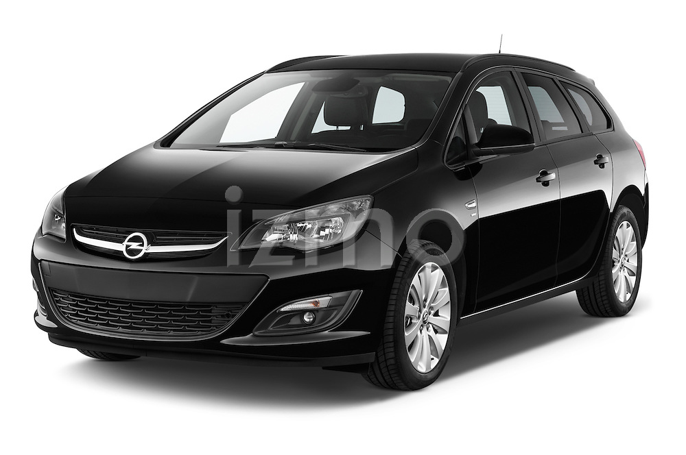2015 Opel ASTRA Enjoy 5 Door Wagon 2WD Angular Front stock photos of front three quarter view