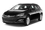 2015 Opel ASTRA Enjoy 5 Door Wagon 2WD Angular Front stock photos of front three quarter view