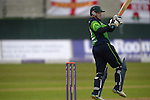 Niall O'Brien pulls this to square leg at the Ireland v England One Day Cricket International held at Malahide Cricket Club, Dublin, Ireland. 8th May 2015.<br /> Photo: Joe Curtis/www.newsfile.ie