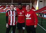 Ethan Ebanks-Landell of Sheffield Utd with quiz winners during the English League One match at the Bramall Lane Stadium, Sheffield. Picture date: November 19th, 2016. Pic Simon Bellis/Sportimage