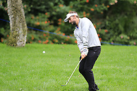 Joost Luiten (NED) chips onto the 1st green during Saturday's rain delayed Round 2 of the Andalucia Valderrama Masters 2018 hosted by the Sergio Foundation, held at Real Golf de Valderrama, Sotogrande, San Roque, Spain. 20th October 2018.<br /> Picture: Eoin Clarke | Golffile<br /> <br /> <br /> All photos usage must carry mandatory copyright credit (&copy; Golffile | Eoin Clarke)