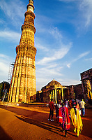 Qutab Minar (fluted tower), Delhi, India (tallest brick minaret in the world)