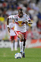 Macoumba Kandji (10) of the New York Red Bulls during the first half of a friendly between Santos FC and the New York Red Bulls at Red Bull Arena in Harrison, NJ, on March 20, 2010. The Red Bulls defeated Santos FC 3-1.