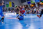 BAENA GONZALEZ, Rafael (#16 Bergischer HC) \ beim Spiel in der Handball Bundesliga, TVB 1898 Stuttgart - Bergischer HC.<br /> <br /> Foto © PIX-Sportfotos *** Foto ist honorarpflichtig! *** Auf Anfrage in hoeherer Qualitaet/Aufloesung. Belegexemplar erbeten. Veroeffentlichung ausschliesslich fuer journalistisch-publizistische Zwecke. For editorial use only.