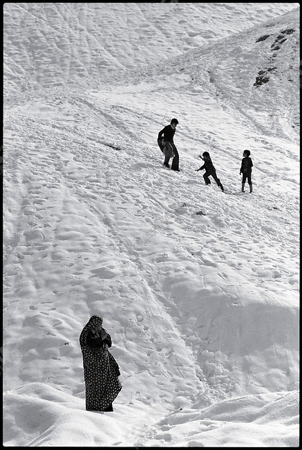 Foothills of the Elburz Mountains. Northern outskirts of Tehran, January 1979
