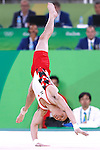 Yusuke Tanaka (JPN), <br /> AUGUST 6, 2016 - Artistic Gymnastics : <br /> Men's Qualification <br /> Floor Exercise <br /> at Rio Olympic Arena <br /> during the Rio 2016 Olympic Games in Rio de Janeiro, Brazil. <br /> (Photo by Sho Tamura/AFLO SPORT)
