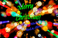 A colorful Merry Christmas greeting from WorthPhoto, Rick and Sharon Worth