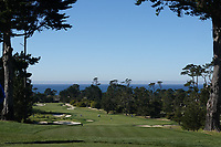 A general view of the opening hole at Monterey Peninsula GC during the first round of the AT&T Pro-Am, Pebble Beach Golf Links, Monterey, California, USA. 06/02/2020<br /> Picture: Golffile | Phil Inglis<br /> <br /> <br /> All photo usage must carry mandatory copyright credit (© Golffile | Phil Inglis)