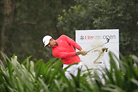 Julian Suri (USA) on the 2nd tee during Round 3 of the UBS Hong Kong Open, at Hong Kong golf club, Fanling, Hong Kong. 25/11/2017<br /> Picture: Golffile | Thos Caffrey<br /> <br /> <br /> All photo usage must carry mandatory copyright credit     (© Golffile | Thos Caffrey)