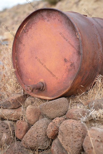 Abandoned 55 Gallon Drum with Spigot probably for Gas, Oil or Water