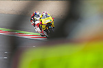 hertz british grand prix during the world championship 2014.<br /> Silverstone, england<br /> August 30, 2014. <br /> F&QP Moto2<br /> luis salom<br /> jonas folger<br /> PHOTOCALL3000/ RME