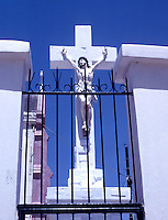 Crucifix in Port-Au-Prince, Haiti, 1981.  (Photo by Edward Cleary/www.bcpix.com)