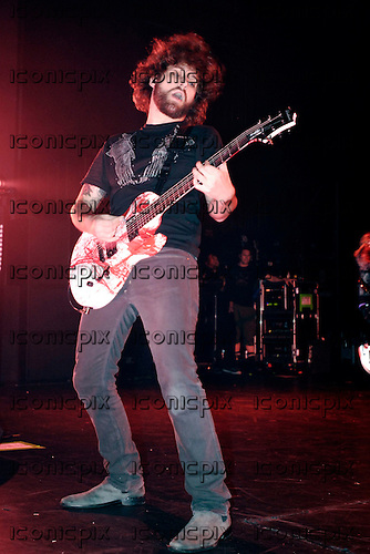 FALL OUT BOY - guitarist Joe Trohman - performing live on the Decaydance Tour at the Apollo Hammersmith in London UK - 22 Aug 2007.  Photo credit: George Chin/IconicPix